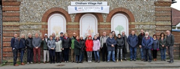 team outside Chidham village hall webwide